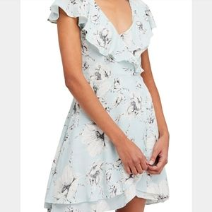 Free People French Quarter Print Wrap Mint Dress